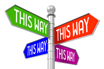 This way - colorful signpost
