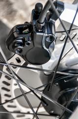 Rear hydraulic disk brake bicycle