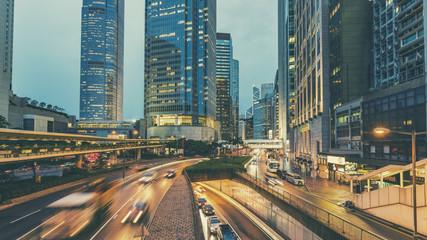 Hong Kong,06 August 2017:- Hong Kong traffic at night Fotomurales