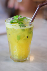 Ice fresh passion fruit with mint