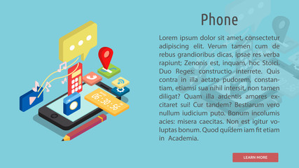 Isometric Phone Conceptual Banner