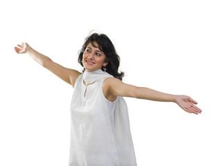 Beautiful woman in traditional wear
