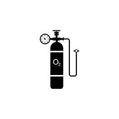 Oxygen cylinder vector icon