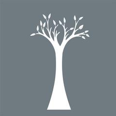 tree symbol isolated on dark background.
