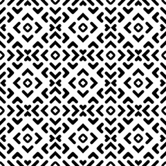 Seamless background for your designs. Modern vector black and white ornament. Geometric abstract pattern