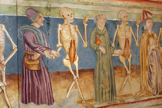 Medieval Church Painting, Dance of Death