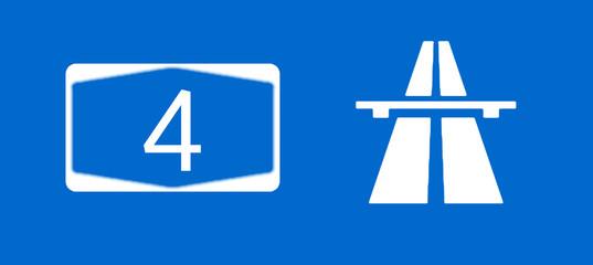 A4 Bundesautobahn Schild