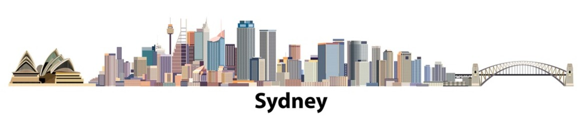 vector city skyline of Syndey