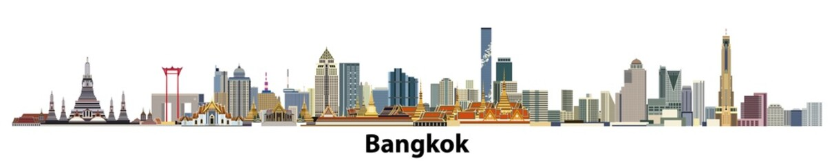 vector city skyline of Bangkok
