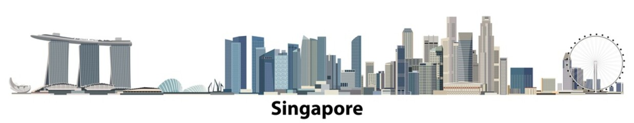 vector city skyline of Singapore