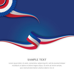 Abstract color background French flag vector. Background French flag