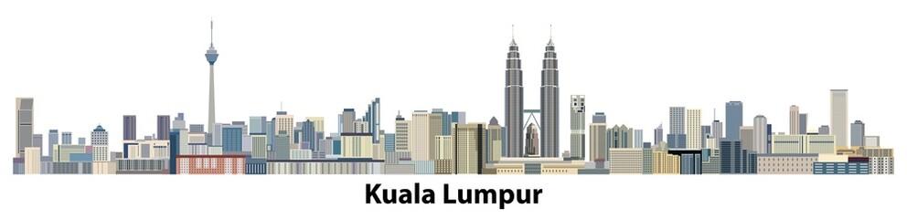 vector city skyline of Kuala Lumpur