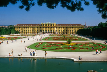 Palace Schonbrunn,in Vienna, Austria