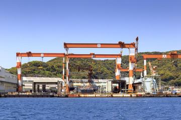 Shipyard in Nagasaki harbor
