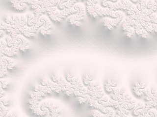 The white Plaster in the form of a Fractal