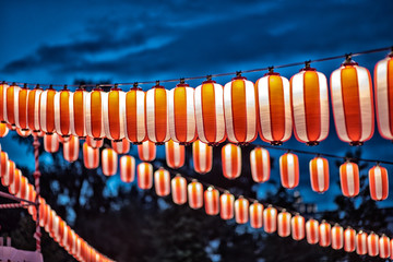 red paper japanese lantern vintage color