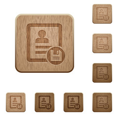 Save contact changes wooden buttons