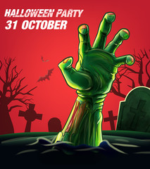 halloween poster with zombie