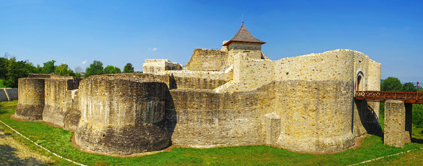 Medieval ruins of Suceava fortress