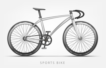 bike in white color with curved handlebars