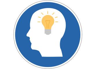 Schild Gute Ideen haben