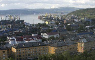 A view shows Murmansk