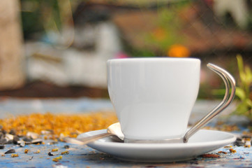 Cup of morning coffee