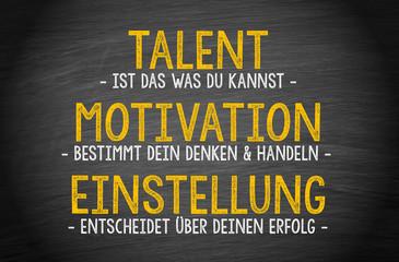 Talent, Motivation und Einstellung führt zum Erfolg - Coaching, Karriere und Personalentwicklung, das Erfolgsrezept