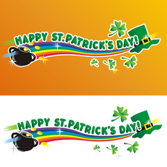 Happy St. Patrick's Day - greeting and design elements