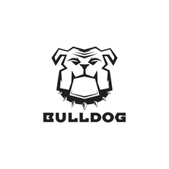 Bulldog logo vector illustration