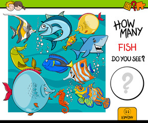 counting fish educational activity game