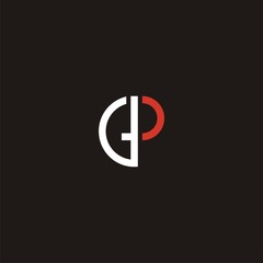 GP Initial Monogram / Letter G and P monogram in duotone color vector