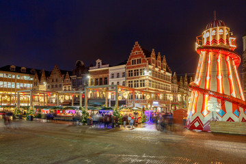 Gent. Downtown at Christmas.