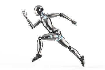 humanoid robot running