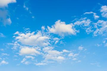 blue sky with clouds closeup.