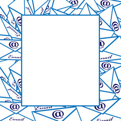 Email board isolated on background