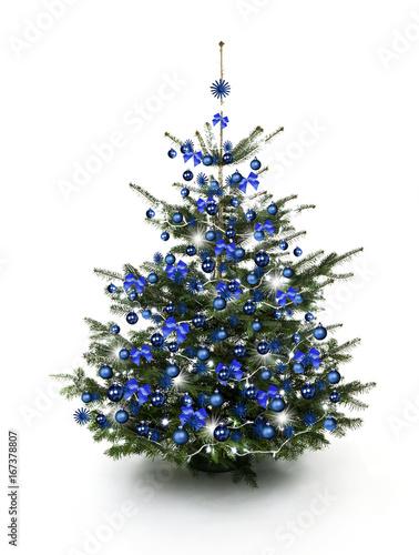 blau geschm ckter weihnachtsbaum stockfotos und lizenzfreie bilder auf bild. Black Bedroom Furniture Sets. Home Design Ideas