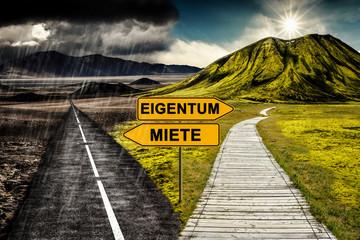 Eigentum vs. Miete