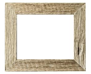 Frame wood vintage style : isolated on white background.