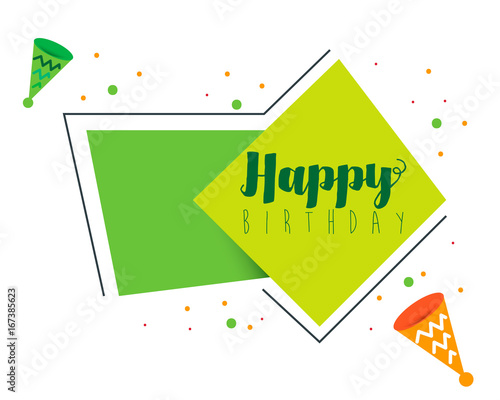 happy birthday shape banner design stock image and royalty free
