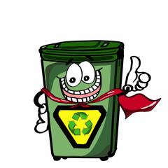 super cute recycle bin and okay hand