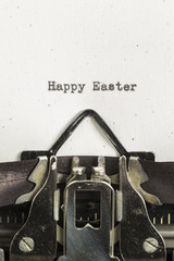 Happy Easter typed on a vintage typewriter