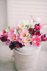 Delicate paper flowers bouquet