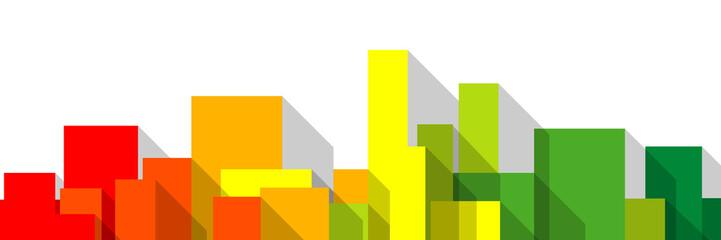 immobilier investissement appartement logement urbanisme logo dpe ou échelle énergétique domotique