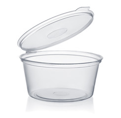 Plastic disposable sauce cup