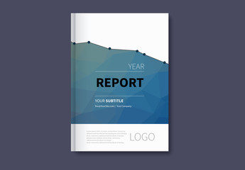 Infographic Book/Report Cover Layout 3