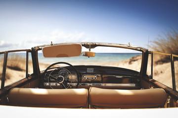 Printed roller blinds Vintage cars car