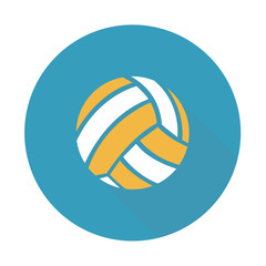 Vector illustration. Icon of volleyball ball in flat design with shadow effect