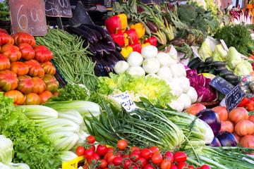 Colourful Fruit Stall arrangement