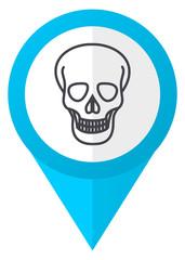 Skull blue pointer icon